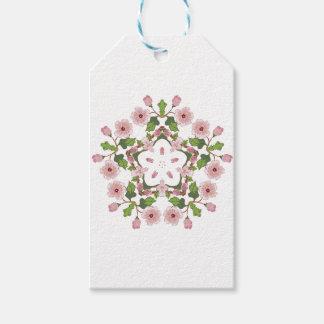 Kirschblüte-Blüten-Verzierung 3 Geschenkanhänger