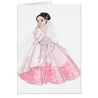 Kirschblüte-Braut Karte