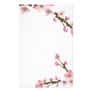Kirschblüte-Briefpapier Personalisiertes Druckpapier