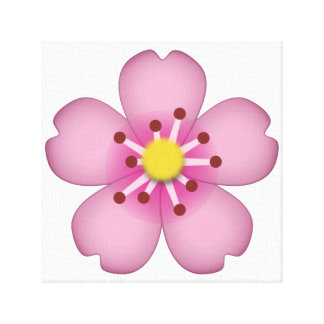 Kirschblüte - Emoji Leinwanddruck
