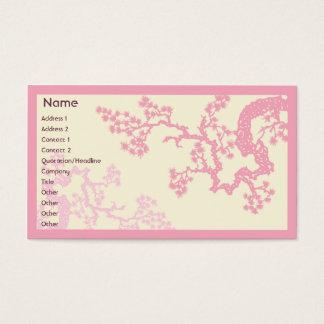 Kirschblüte - Geschäft Visitenkarte