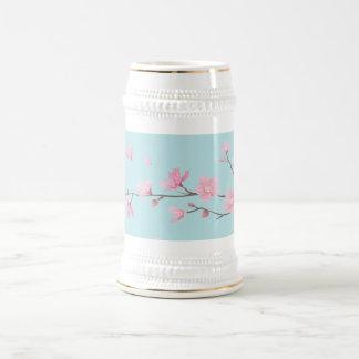 Kirschblüte - Himmel-Blau Bierglas