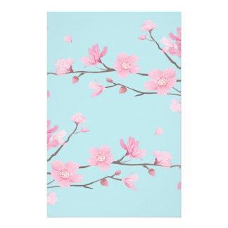 Kirschblüte - Himmel-Blau Briefpapier