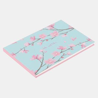 Kirschblüte - Himmel-Blau Gästebuch