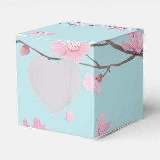 Kirschblüte - Himmel-Blau Geschenkschachtel