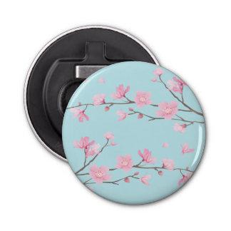 Kirschblüte - Himmel-Blau Runder Flaschenöffner