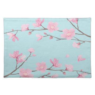 Kirschblüte - Himmel-Blau Tischset