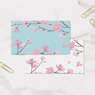 Kirschblüte - Himmel-Blau Visitenkarte