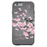Kirschblüte (Kirschblüte) Monogramm Tough iPhone 6 Hülle