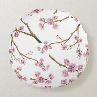 Kirschblüte-Kirschblüten-Muster Rundes Kissen