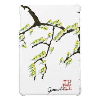 Kirschblüte mit grünen Vögeln, tony fernandes iPad Mini Hülle