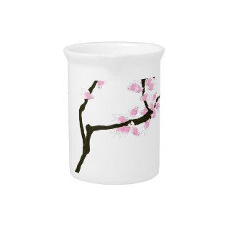Kirschblüte mit rosa Goldfisch, tony fernandes Getränke Pitcher