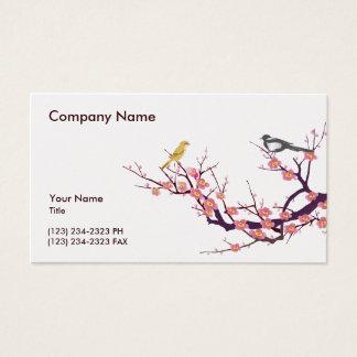 Kirschblüte mit Vögeln Visitenkarte