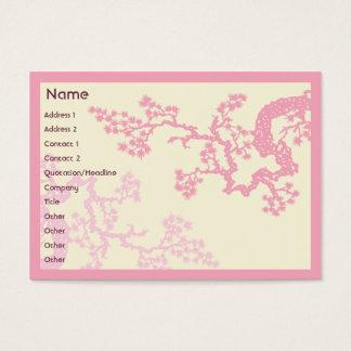 Kirschblüte - mollig visitenkarte