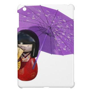 Kirschblüte-Puppe mit Regenschirm iPad Mini Hülle