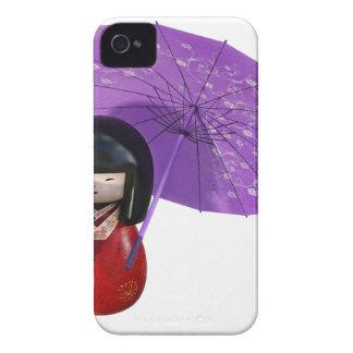 Kirschblüte-Puppe mit Regenschirm iPhone 4 Hülle