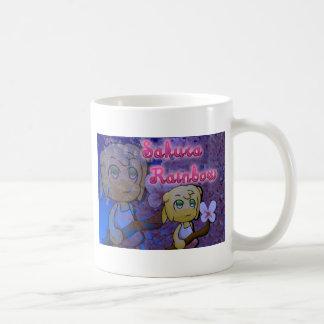 Kirschblüte-Regenbogen: Pansy Kaffeetasse