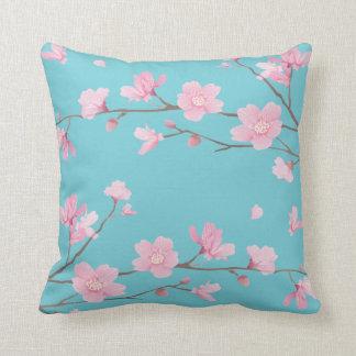 Kirschblüte - Robin-Ei-Blau Kissen