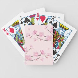 Kirschblüte - Rosa Bicycle Spielkarten