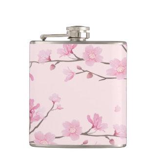 Kirschblüte - Rosa Flachmann