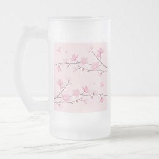 Kirschblüte - Rosa Mattglas Bierglas