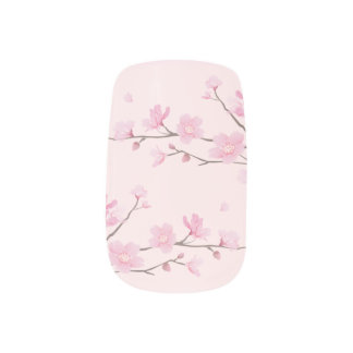 Kirschblüte - Rosa Minx Nagelkunst