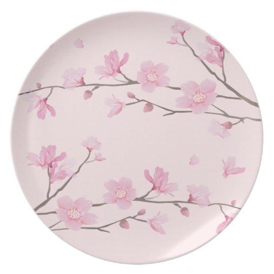 Kirschblüte - Rosa Teller