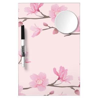 Kirschblüte - Rosa Trockenlöschtafel Mit Spiegel