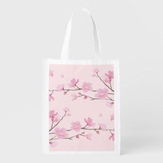 Kirschblüte - Rosa Wiederverwendbare Einkaufstasche