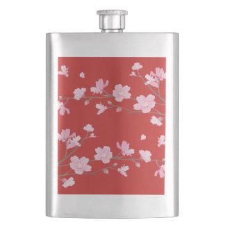 Kirschblüte - Rot Flachmann