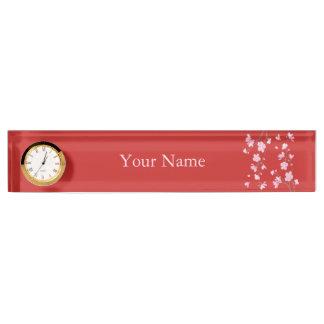 Kirschblüte - Rot Schreibtischplakette