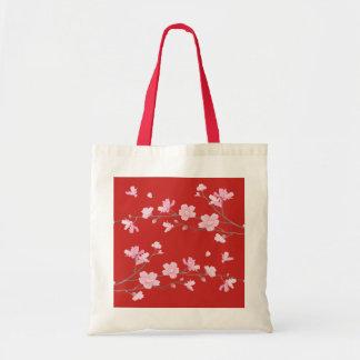Kirschblüte - Rot Tragetasche