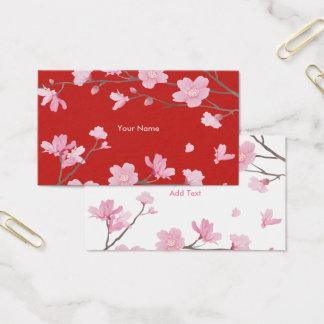 Kirschblüte - Rot Visitenkarte