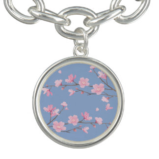 Kirschblüte - Ruhe-Blau Armband