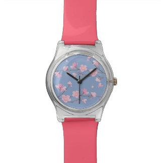 Kirschblüte - Ruhe-Blau Armbanduhr