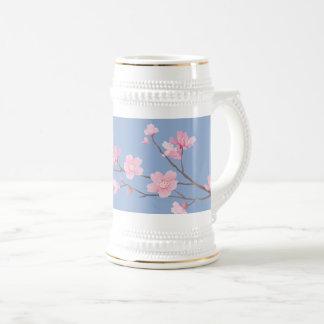 Kirschblüte - Ruhe-Blau Bierglas
