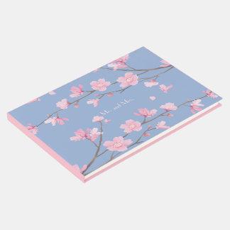 Kirschblüte - Ruhe-Blau Gästebuch