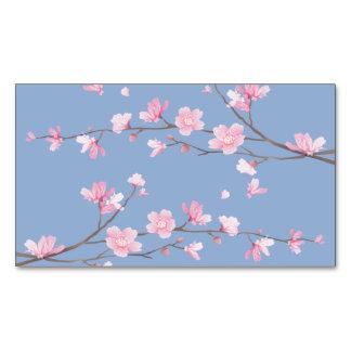 Kirschblüte - Ruhe-Blau Magnetische Visitenkarte