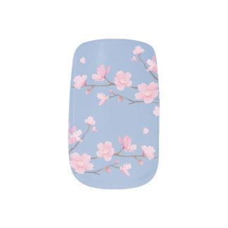 Kirschblüte - Ruhe-Blau Minx Nagelkunst