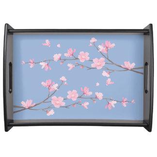 Kirschblüte - Ruhe-Blau Serviertablett