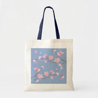 Kirschblüte - Ruhe-Blau Tragetasche