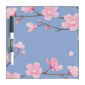 Kirschblüte - Ruhe-Blau Trockenlöschtafel