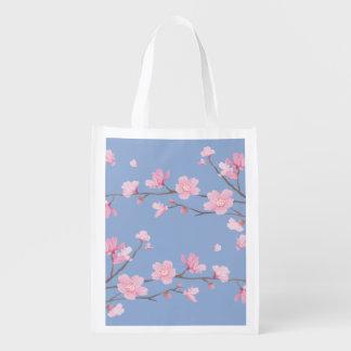 Kirschblüte - Ruhe-Blau Wiederverwendbare Einkaufstasche