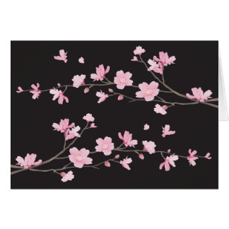 Kirschblüte - Schwarzes Karte