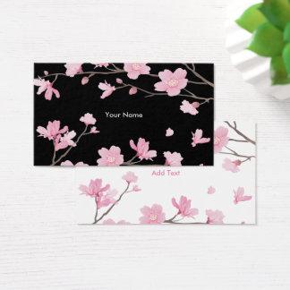 Kirschblüte - Schwarzes Visitenkarte