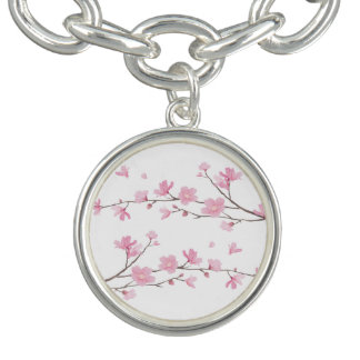 Kirschblüte - transparenter Hintergrund Charm Armband