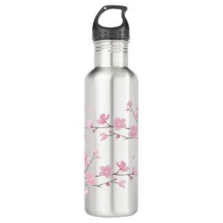 Kirschblüte - transparenter Hintergrund Edelstahlflasche