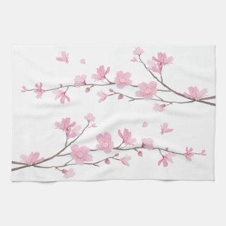Kirschblüte - transparenter Hintergrund Handtuch