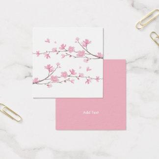 Kirschblüte - transparenter Hintergrund Quadratische Visitenkarte