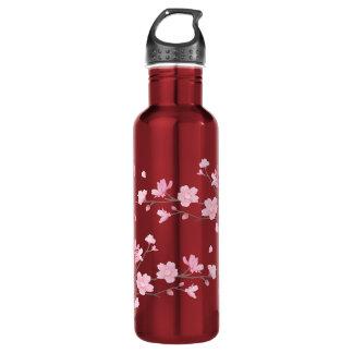 Kirschblüte - transparenter Hintergrund Trinkflasche